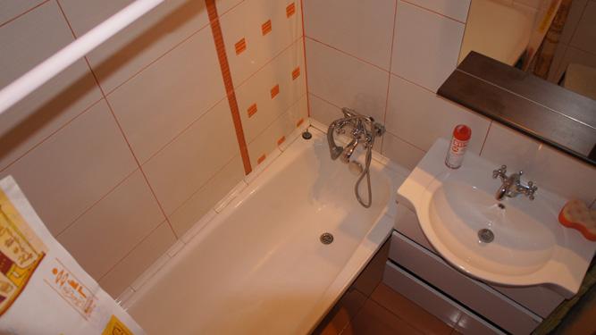 ванная комната квартиры посуточно на Алексеева в Красноярске