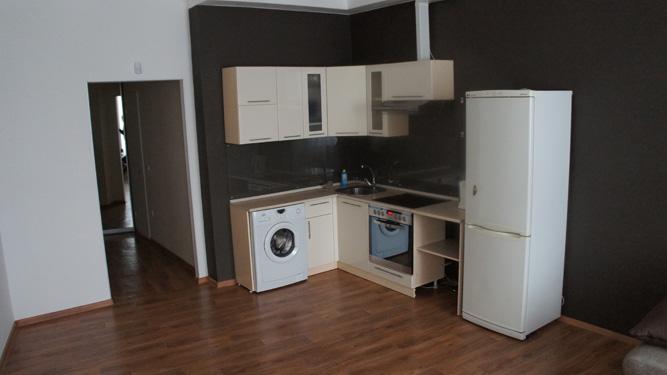 кухня в квартире посуточно - холодильник, стиральная машинка, современная печь
