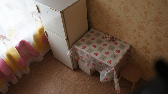 холодильник, кухонный столик