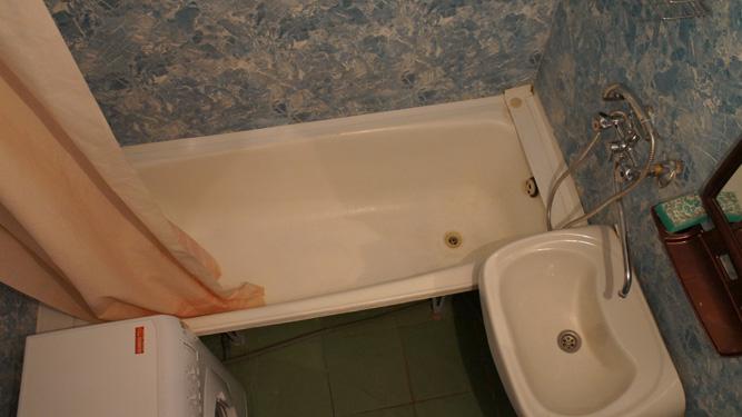ванная комната квартиры посуточно в Красноярске на левом берегу