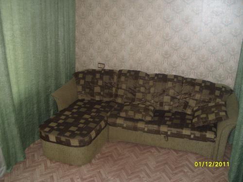 раскладной диван в квартире посуточно на Светлогорской улице 37 в Красноярске