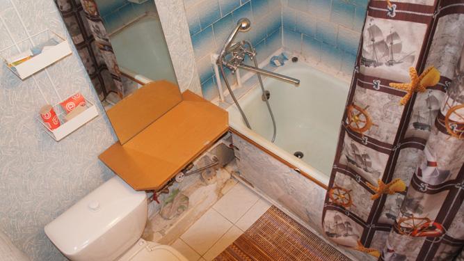 ванная комната квартиры посуточно в Красноярске на Высотной